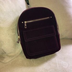 GAP Bags - Plum Purple Velvet Backpack Purse from Gap